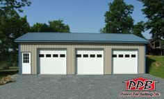 Building of the Week!  6/11/2014  Dimensions: 24' W x 40' L x 10' H (ID# 023) 24' Standard Trusses, 4' on Center, 4/12 Pitch  Colors: Siding Color: Ash Gray Roofing Color: Ocean Blue Trim Color: Ocean Blue  For More Information: http://pioneerpolebuildings.com/portfolio/project/24-w-x-40-l-x-10-h-id-023-total-cost-contact-us