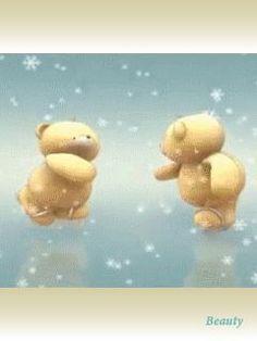 Hug Gif, Gif Animé, Animated Clipart, Animated Gif, Friends Gif, Friends In Love, Teady Bear, Bear Gif, Tatty Teddy