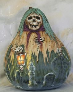 Spirit halloween contest...boo!!!:)(veronica d) Jeepers Creepers Gourd