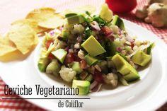 ceviche vegetariano de coliflor receta