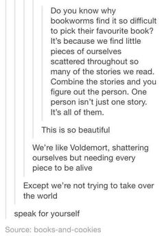 i think this goes for all fandoms I Love Books, Good Books, Books To Read, My Books, Book Memes, Book Quotes, Bookworm Quotes, Daily Quotes, Les Sentiments