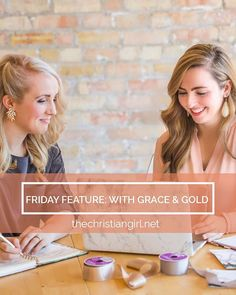 Today on TCG we are excited to feature the lovely ladies behind @withgraceandgold Join us on the dot com as we chat about running a godly business with a partner, friendship, marriage, and faith. | thechristiangirl.net #withgraceandgold #fridayfeature #thechristiangirl