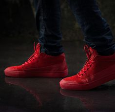 The first sneaker from Distorted People : the ''Son of Blades'' in Monochrome Red, came out on the 18th of April in 2015 and was limited to 500 pairs only