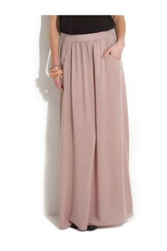 Found a maxi skirt which may just be long enough... and cheap too, result!!  New Look Mobile | Tall Oatmeal Voile Maxi Skirt