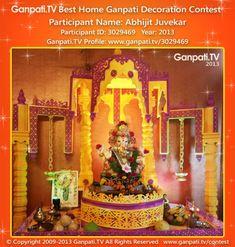 Abhijit Juvekar Home Ganpati Picture 2013. View more pictures and videos of Ganpati Decoration at www.ganpati.tv