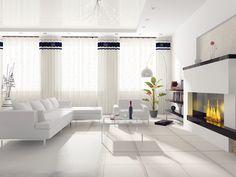 Bianco: il colore della purezza, della pulizia, dell'ordine. Dipingendo le pareti di bianco si da una ventata di freschezza. Inoltre è la più classica delle tinte per la casa.