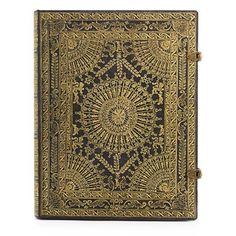Ventaglio Marrone Ultra Journal $29.95 - Where better to pen a magnum opus than inside this magnificent example of Roman a ventaglio (fan) binding? This reproduction of gilt-work melting over Moroccan leather shrouds unadorned pages that make space for chronicling events of the day