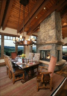 1000 images about fireplaces on pinterest fireplaces for Four sided fireplace