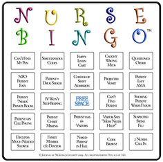 Funny Nurse Bingo Card