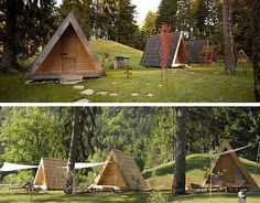 A-Frame Cottages for Eco-Friendly Glamping - Lushna Villa, Slovenia