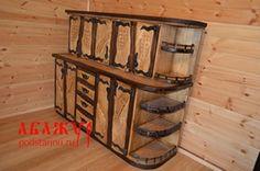 Кухонный гарнитур за 25тр метр с волнистыми ящиками и с эффектом коры, придуманным торговой маркой АБАЖУР