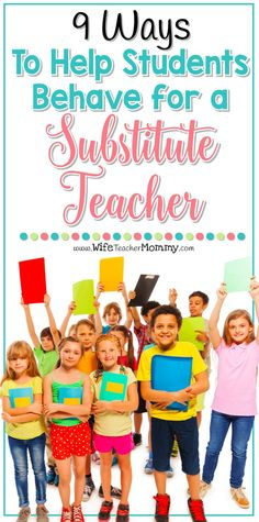 Do your students some motivation to behave for a substitute teacher? These 9 tips are great tips from other teachers will help stop the mayhem with positive ways to encourage good behavior.