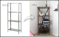 Do this with the storage shelf for living room storage.– Ikea Hack