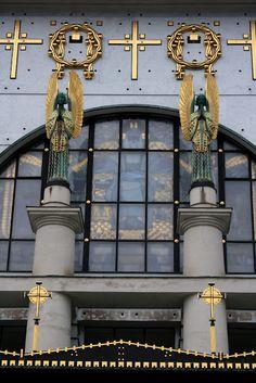Detail of Kirche am Steinhof/Church of St. Leopold - designed by Otto Wagner - Vienna, Austria