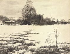 Andrew Wyeth - 'The Mill at Brinton's Bridge' 1936 Ink on paper