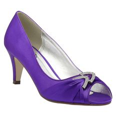 Pink Paradox Claire Purple - Wedding Shoes - Crystal Bridal Accessories