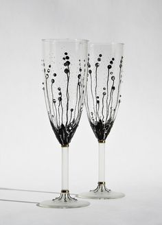 Hey, I found this really awesome Etsy listing at https://www.etsy.com/listing/109183243/wedding-glasses-hand-painted-champagne