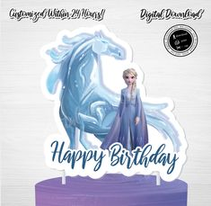 QUEEN ELSA Cake Topper, Instant Download Frozen, Frozen 2 Instant Download, Frozen 2 Cake Topper,Frozen 2 Cake,Queen Elsa, Nokk by ThistlePartyDesigns on Etsy Toy Story Cake Toppers, Toy Story Cakes, Queen Birthday, Little Girl Birthday, Lion King Cupcakes, Lion King Party, Elsa Cakes, Frozen Cake Topper, Happy Birthday Cake Topper
