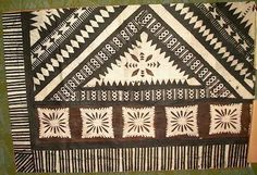 Antique Tapa Cloth From Samoa
