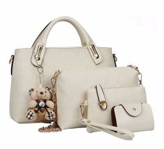 fbe97517dc Famous designer SUUTOOP luxury brands women bag set good quality medium women  handbag set new women shoulder bag 4 piece Set - TakoFashion - Women s ...