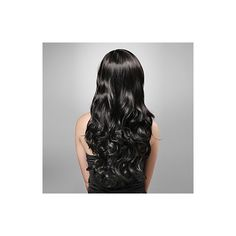 CLEARANCE Beautiful Wavy Fullcap Wig, Long Black Wig, Wedding Diva... ($55) ❤ liked on Polyvore featuring beauty products, haircare, hair styling tools, black hair care and black haircare