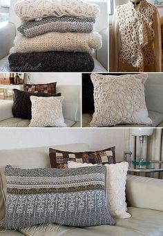 Sweater Pillows: Great Ideas!