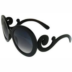 Curlycue Big Lense Sunglasses; $5 knockoff of Prada's $300 pair. Undoubtedly made in a sketchy factory in China.  But I waaaant theeeem!