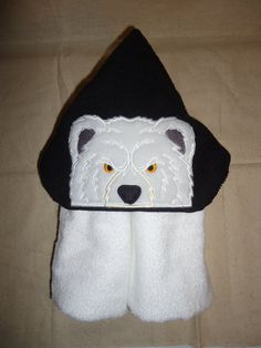 Check out this item in my Etsy shop https://www.etsy.com/listing/268209762/bear-hooded-bath-towel-angry-bear-polar