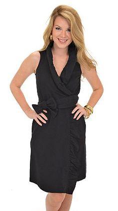 Missy Robertson Wrap Dress, Black :: NEW ARRIVALS :: The Blue Door Boutique