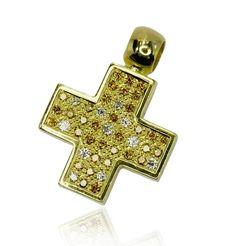 Diamanten auf dem Kreuzpfad! Erlesen und edel lässt sich dieses Diamant-Kreuz in jedem Ausschnitt bewundern Ein Traum von einem Kreuz. Hier funkeln 45 Diamanten, davon 27 gelbe und 18 weiße mit insgesamt 0,845 ct um die Wette. Das Schmuckstück wurde in 18 ct Goldgelb verarbeitet. Durch die festsitzende Öse kann das Schmuckstück mit fast jeder Kette getragen werden- wie auch an einem Lederband http://www.schmuck-boerse.com/halsschmuck/48/detail.htm # jewels #vintage #schmuck