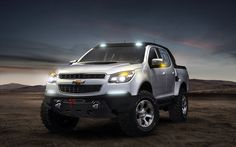 Chevrolet Colorado In The Steppe Under The Night Sky