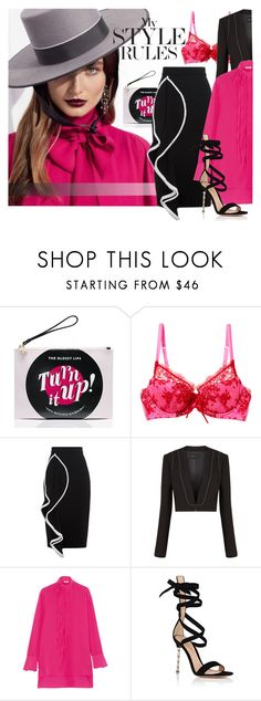 """""""Raspberry and..."""" by laste-co ❤ liked on Polyvore featuring Kate Spade, Mimi Holliday by Damaris, Alexis, BCBGMAXAZRIA, Valentino and Gianvito Rossi"""