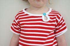 keyhole tee shirt: a tutorial