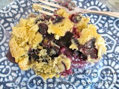 Blueberry Pudding Cake {gluten, dairy and egg-free}