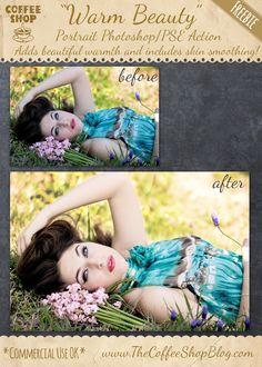 "The CoffeeShop Blog: CoffeeShop ""Warm Beauty"" Portrait Photoshop/PSE Ac..."