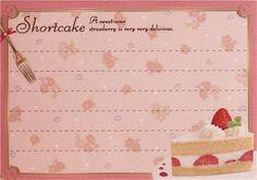 kawaii pink shortcake glitter Memo Pad by Q-Lia Japan 3