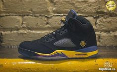 Black/Yellow/Blue Shanghai Shen 136027-103 AIR JORDAN V RETRO Store Online