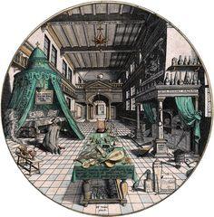 Hans Vredeman de Vries : Alchemist's Laboratory  1527-1607 ハンス・フレーデマン・デ・フリース