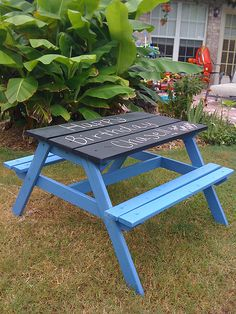 Picnic Table Chalkboard Top