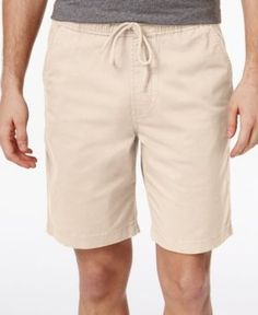 American Rag Men's Pull-On Cotton Shorts, Only At Macy's  - Tan/Beige XL