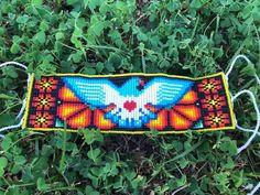 Beaded Brooch, Beaded Rings, Bead Loom Patterns, Beading Patterns, Seed Bead Jewelry, Beaded Jewelry, Bead Loom Bracelets, Native American Beadwork, Beading Projects