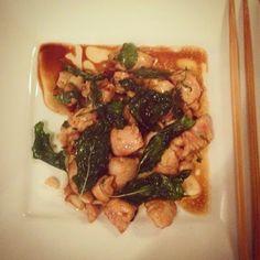 Mine matskriblerier: Kylling med thaibasilikum og chili