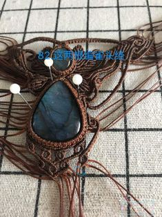 Macrame Jewelry Tutorial, Macrame Necklace, Macrame Bracelets, Macrame Design, Pretty Necklaces, Jasper Stone, Bijoux Diy, Micro Macrame, Grapevine Wreath