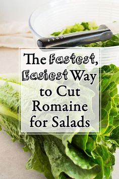 How to cut romaine lettuce for salads the fastest and easiest way Lettuce Salad Recipes, Healthy Salad Recipes, Romain Lettuce Recipes, Savory Salads, Diabetic Recipes, Healthy Meals, Delicious Recipes, Easy Recipes, Healthy Food
