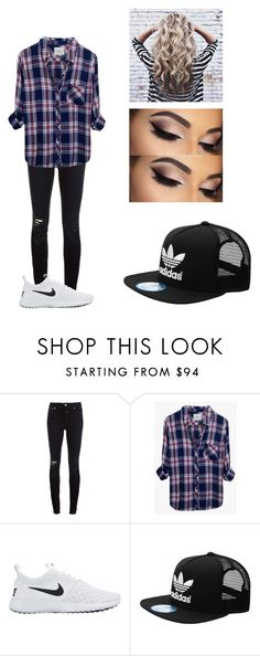 """Untitled #358"" by winniemjones ❤ liked on Polyvore featuring Closed, Rails, NIKE, Anastasia Beverly Hills and adidas"