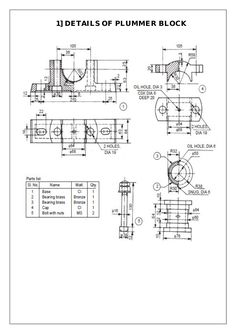Drawing Design Assembly and Details machine drawing pdf Isometric Drawing Exercises, Autocad Isometric Drawing, Mechanical Engineering Projects, 3d Drawing Techniques, Metal Lathe Projects, Learn Autocad, Solidworks Tutorial, Drawing Machine, Detailed Drawings