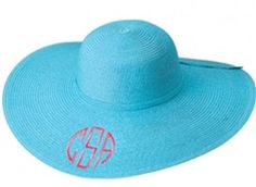Aqua Derby/Floppy Hat $17.95