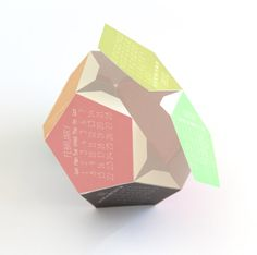 printable 3D 2015 calendar | A Piece Of Rainbow