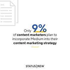 By blogging on Medium, you can contribute to conversations that are already happening, and find ways to connect with individuals who are genuinely interested in your content. So, content marketers should include Medium in their marketing strategy because it allows the best and most valuable content to stand out among the competition. It's also an amazing place to get insights from other content marketers 🤘 Content Marketing Strategy, How To Get, How To Plan, The Good Place, Connect, Competition, Insight, Blogging, Social Media