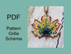 Diagramme tissage perles feuille / miyuki pattern / pattern   Etsy Beaded Bags, Beaded Jewelry, Beaded Necklaces, Beaded Earrings, Jewellery, Indian Agate, Native American Earrings, Bead Loom Bracelets, Brick Stitch